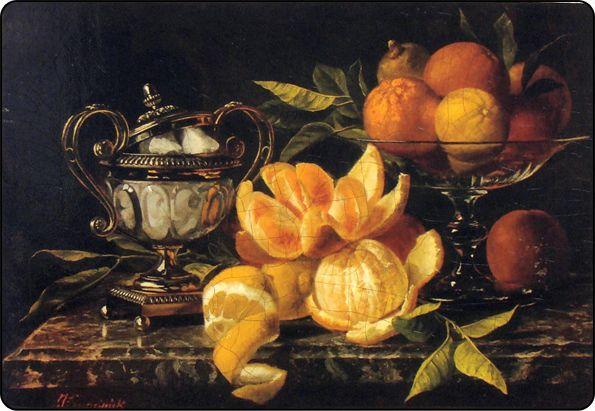 натюрморт с апельсинами: